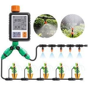 Image 1 - 자동 식물 물방울 관개 시스템 전자식 타이머 LCD 스크린 스프링클러 컨트롤러 정원 지능형 급수 장치