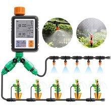 Sistema de irrigação eletrônica automática, temporizador de água eletrônico com tela lcd, controlador de aspersor, dispositivo de irrigação inteligente para jardim