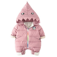 Newborn Winter Infant Snowsuits Cotton Thicken Hooded Jumpsuit Baby Warm Winter Romper Soft Cute Animal Outfit