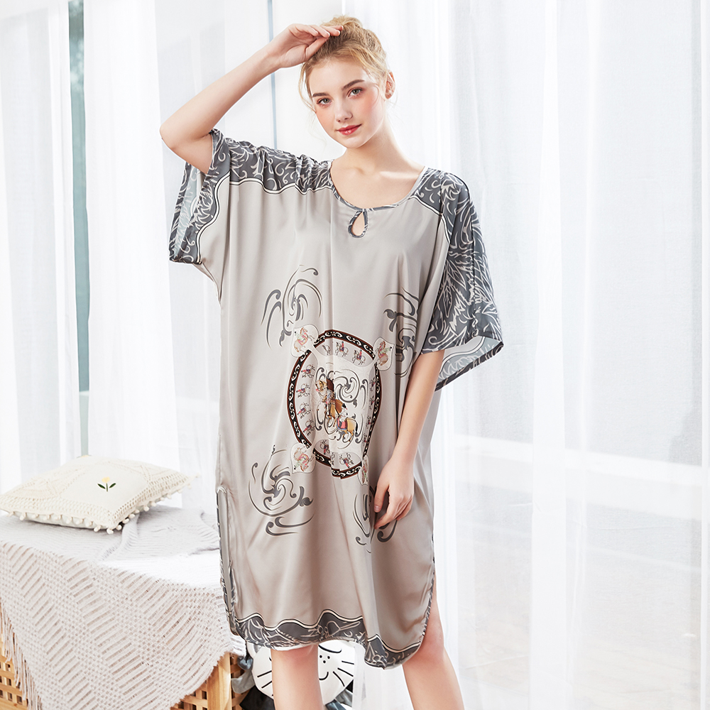 PLUS SIZE 7XL 8XL 9XL Lady Robe Dress Gown Women Rayon Bigger 5XL 6XL Nightgown 3XL 4XL Nightdress New Sleepwear Kaftan Bathrobe