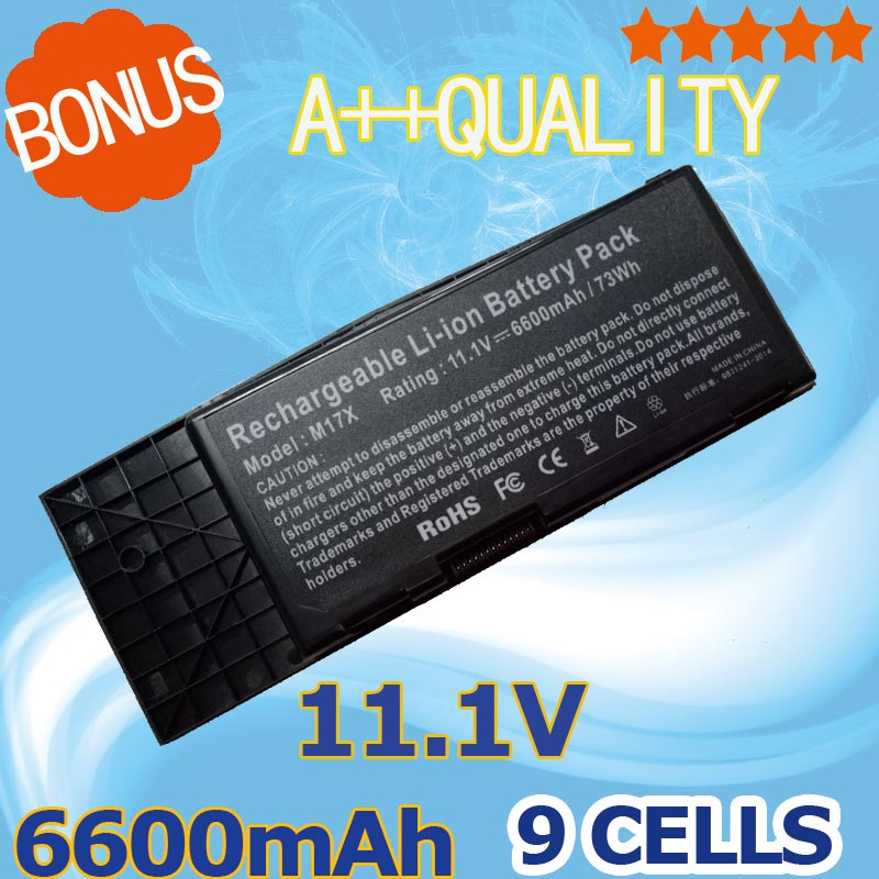 11.1v 6600mah Laptop Battery For Dell Btyvoy1 7xc9n C0c5m For Alienware M17x R3 R4 Mx 17xr3 Mx 17xr4 318-0397 451-11817 Relieving Rheumatism