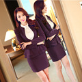 2016 Real  Sale Autumn Dress Occupation Fashion Slim Size Sleeved Frock Suit Temperament Beautician Clothing Studio