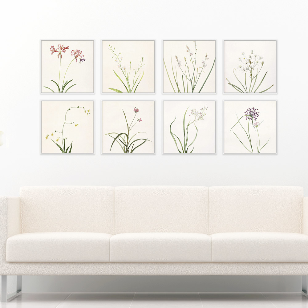 Modern minimalist spring flower rural floral cottage green for Modern minimalist wall art