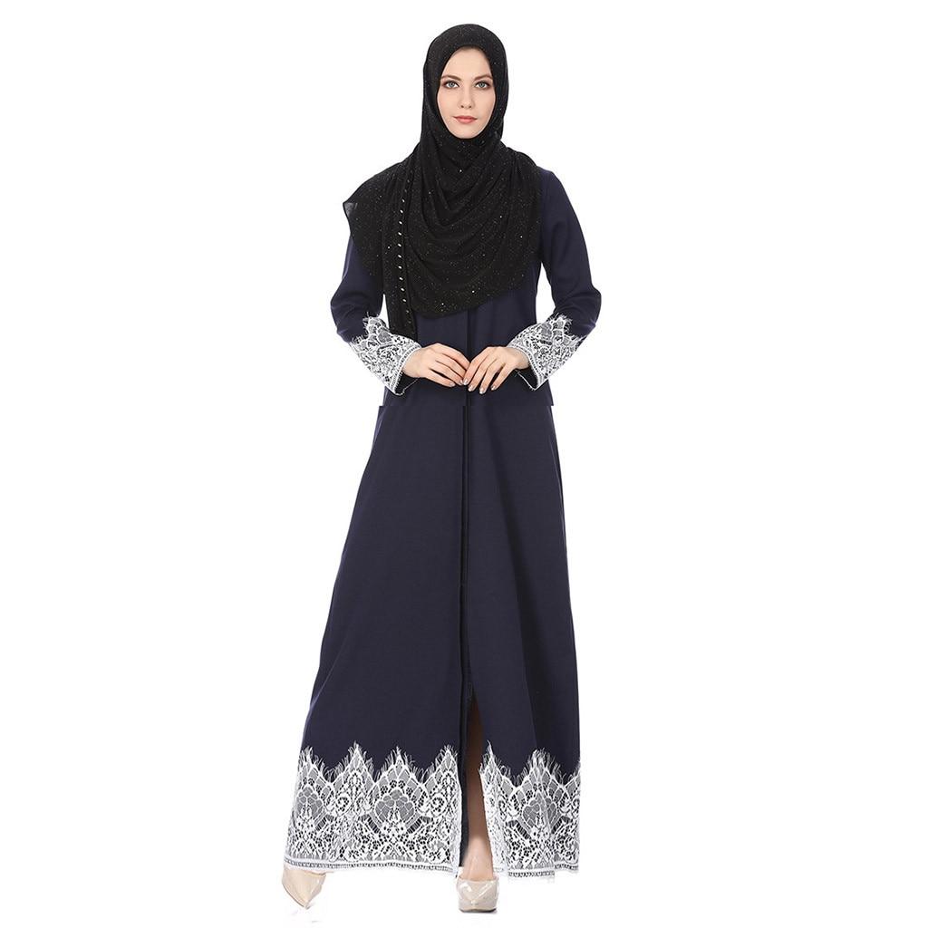 Portable Lighting Confident Fashion Womens Muslim Dress Islamic Abaya Muslim Robes Sexy Ladies Kaftan Lace Dress Summer Vestidos Turkish Home Dresses L0416 Lights & Lighting