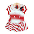 New brand baby dress summer casual striped infant baby girl clothes preppy style baby girl christening gowns clothes