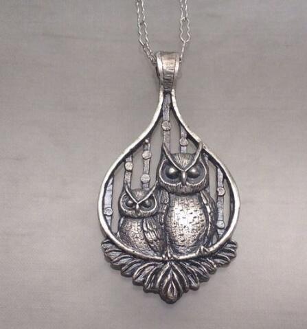 pendant Perched Owls necklaces