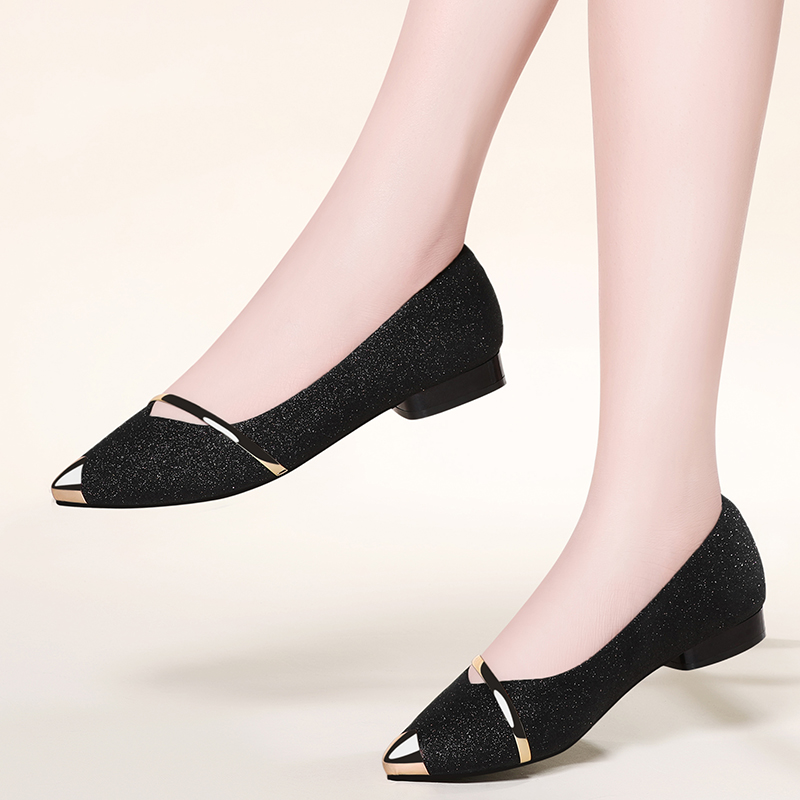 Spring 2019 new flat womens shoes Korean version of Joker pointed female shallow fairy spring luxury women shoes Yasilaiya in Women 39 s Flats from Shoes