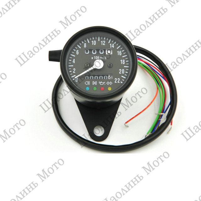 1* Black odometer speedometer +4 ADDITIONAL FEATURES Black Face and LED Indicator Lights with handlebar stand free shipping