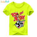 Jiuhehall Children Cat and Mouse Printing T-Shirts Baby Cartoon Style Tee Tops Boy Girls Summer Short Sleeve Clothes 2017 ACM130