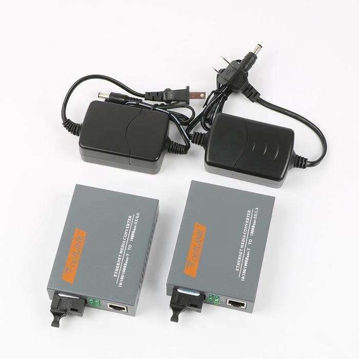 Convertisseur de média en fibre WDM, une paire, 1000M, RJ45 SC, gigabit, Fiber optique, 20km