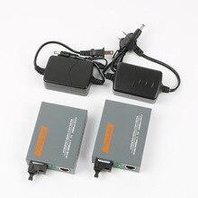 One pair HTB GS 03 20km RJ45 SC gigabit netLINK 1000M Single mode Single fiber WDM Fiber Media Converter