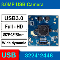 HQCAM 8MP FULL HD Mjpeg usb camera mini OEM usb 3.0 webcam video security camera module mini for industrial application