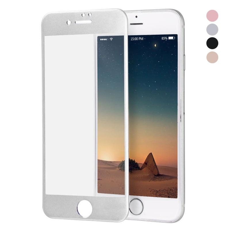 <font><b>HAT</b></font> <font><b>PRINCE</b></font> for iPhone 7 Plus 5.5 inch Titanium Alloy <font><b>Tempered</b></font> <font><b>Glass</b></font> <font><b>Film</b></font> Full <font><b>Screen</b></font> Cover 9H 3D <font><b>Curved</b></font> - Silver