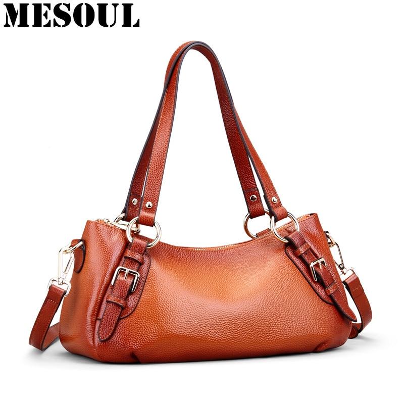 Luxury Women Handbags Brand Genuine Leather Bags 2018 New Female Vintage Hobos Fashion Hand Tote Ladies