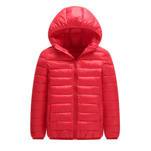 Image 3 - 高品質 2020 冬ジャケットの少年ダウンジャケット子供子供ライトアヒルダウンコートフード付き女の子薄型暖かい Outerwears 10 12 14 16 Y