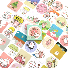 Cute Pet Paper Decorative Stickers Adhesive Stickers DIY Decoration Scrapbooking Stickers Gift Stationery 46 PCS/box