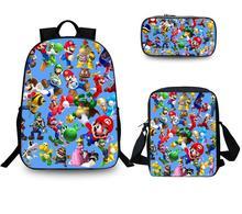 Gorąca torba szkolna Super Mario Bros Sonic plecak dla dzieci połączenie Bookbag chłopcy dziewczyny plecak szkolny codzienne Mochila tanie tanio Torby szkolne Poliester Cartoon zipper Unisex Polyester KK963 0 45