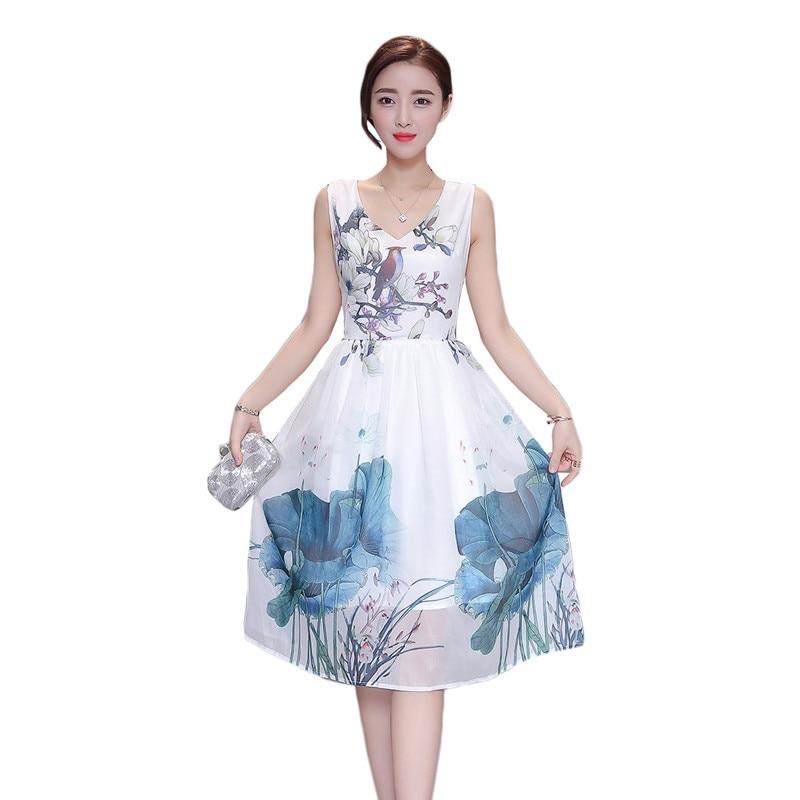 2016 Summer Fashion Women' Sleeveless Floral Bird