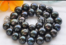 BJC 000466 10-11 MM TAHITIAN blackpearl Necklace (C0309)(China)