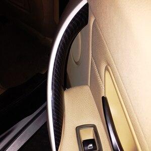 Image 2 - Para BMW nuevo 3 serie 4 F30 F35 2012, 2013, 2014, 2015, 2016 2 unids/set coche Panel de manija de puerta tire reposabrazos Instalación rápida cubierta