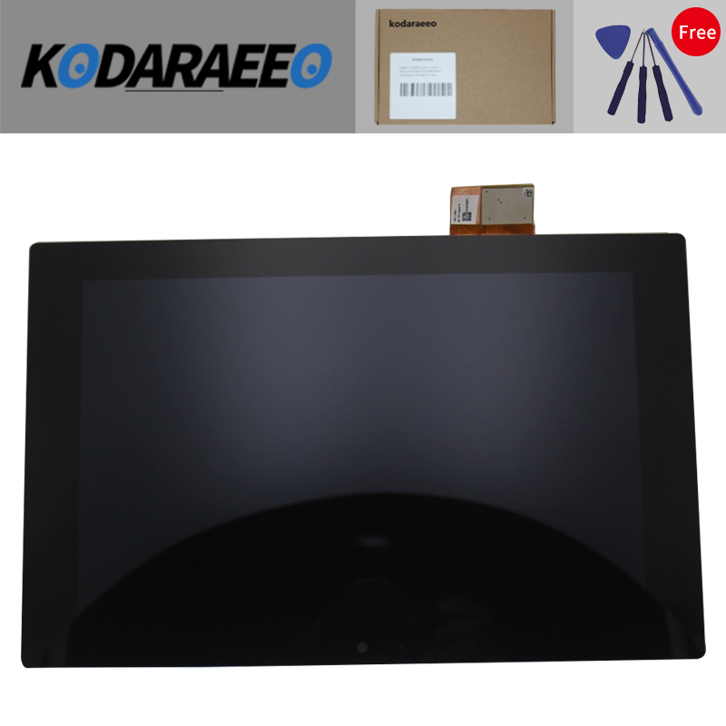 kodaraeeo For Sony Xperia Tablet Z SGP311 SGP312 SGP321 Touch Screen Digitizer + LCD Display Assembly replacement part good working replacement lcd touch screen digitizer assembly for sony for ericsson for xperia t lt30 lt30i lt30p free shipping