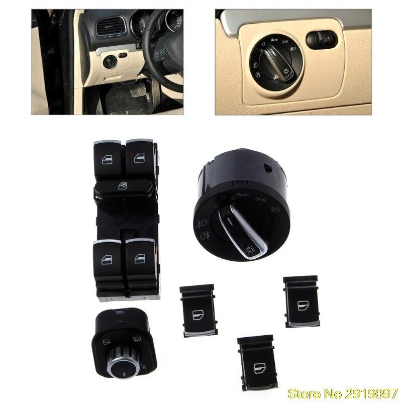 Новое поступление 6 шт. зеркала фара окно переключатель для Volkswagen VW CC Tiguan Passat B6 Прямая доставка Поддержка