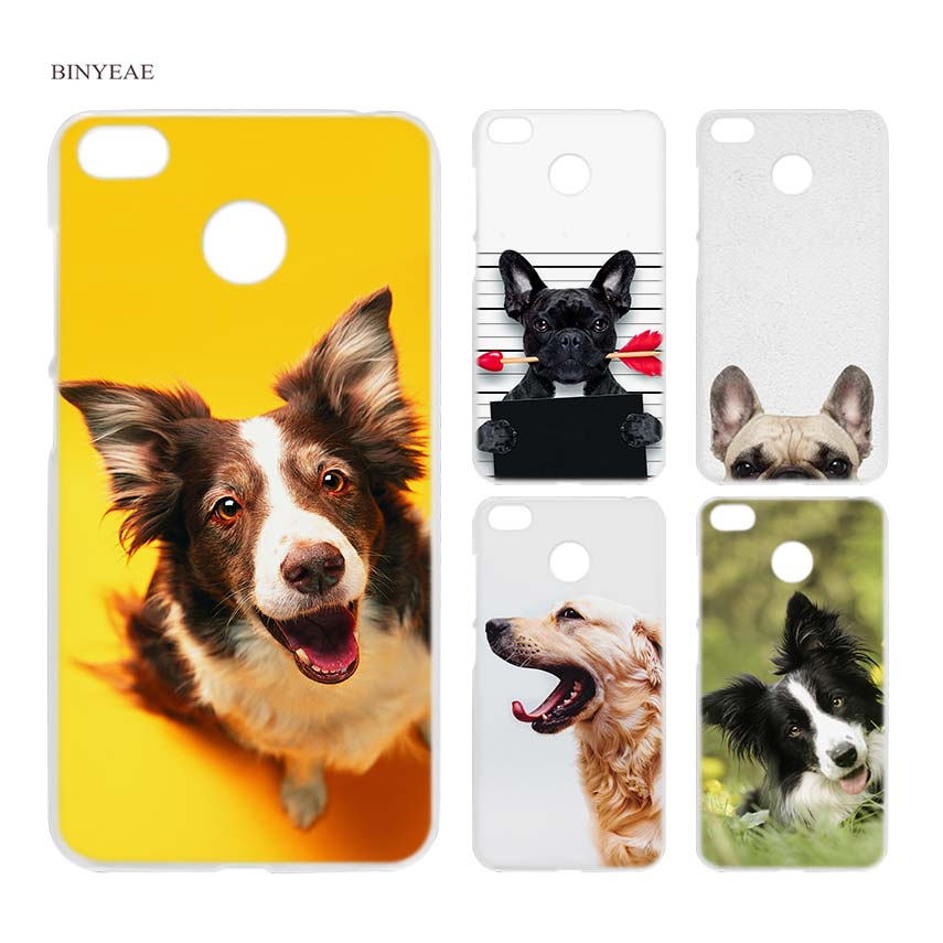BINYEAE French bulldog border collie terrier dog Clear Case Cover Shell for Xiaomi Redmi Note MI A1 4X 5 5A 4 4A 3 Plus 5X