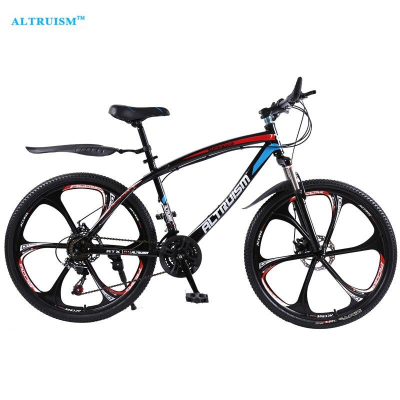 f4892970130 ALTRUISM Q1 24 speed 26 inch Steel Road Bike Double Disc Brake One Wheel Male s  Mountain Bike Bicicleta Compete Bicycles