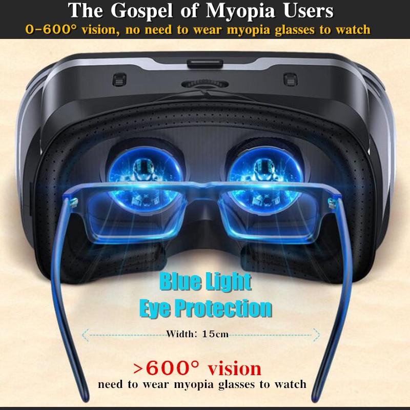 Blu-Ray VR Virtual Reality 3D Glasses Box Stereo VR Google Cardboard Headset Helmet for IOS Android Smartphone,Bluetooth Rocker 2