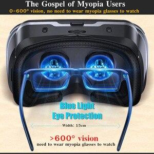 Image 4 - Blu Ray VR realtà virtuale scatola per occhiali 3D Stereo VR Google casco per cuffie in cartone per Smartphone Android IOS, Bluetooth Rocker