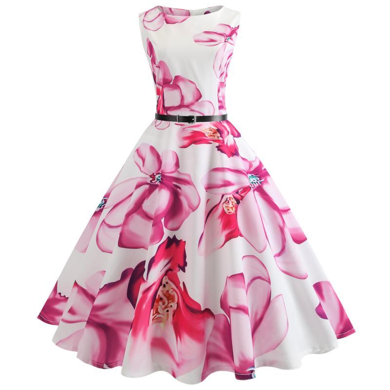 2018 Summer Girls Dresses Floral Print Dress Children Girls Clothing Vestidos Costumes Teens Dress For 12-14-15-17-20 Years