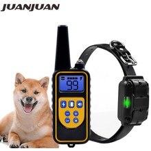 800yd eléctrico Collar de adiestramiento de perros a distancia impermeable recargable pantalla LCD para todo el tamaño señal Shock modo Vibración 40%