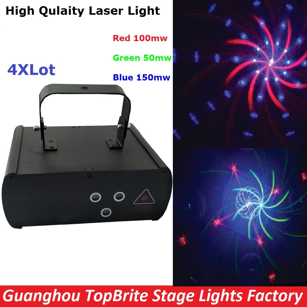 4XLot Factory Price Stage Laser Light 300MW RGB Full Color Beam Laser Light With DMX512 And 16 Kinds of Graphics Fast Shipping