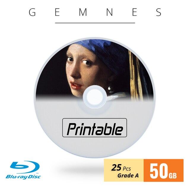 Miễn phí Vận Chuyển BD-R 50 GB 6X Blu Ray Đĩa Trống Bluray Đĩa Máy In Phun Có Thể In Blu-Ray Disc Cấp MỘT-25 PCS Trục Chính Hộp
