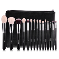 MSQ Professional 14pcs Set Brush Set Rose Gold Double Ended Cosmetic MakeUp Brush Foundation Eye Beauty