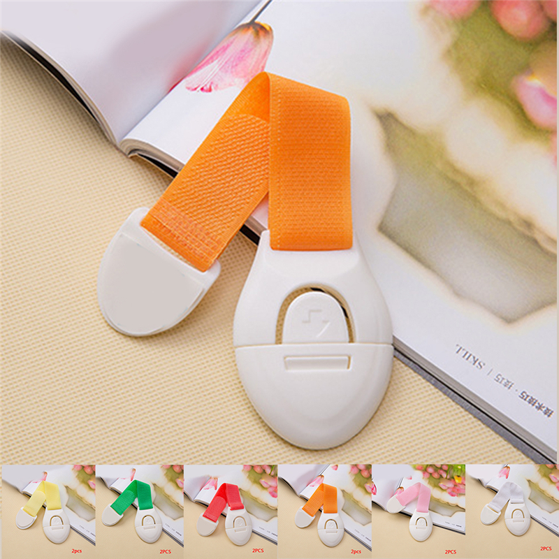 2Pcs Child Baby Safety Latch Furniture Cabinet Drawer Locks Plastic Protection