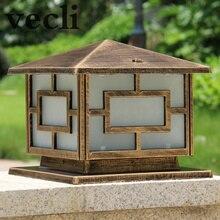 Популярные европейские квадратные столбы лампы Открытый ретро водонепроницаемый столбик светильник сад балкон вилла община коридор chapitar лампы