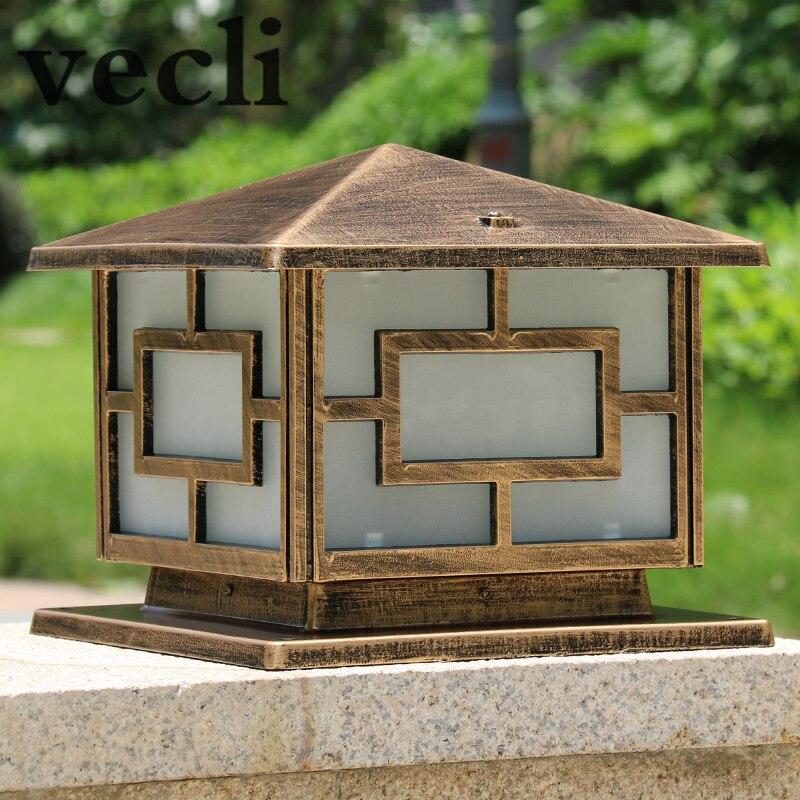 Simplistic Victorian Entrance Pillar Light: Popular Europe Pillar Lamp Outdoor Retro Column Light