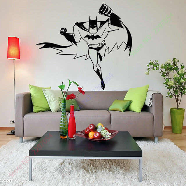 BATMAN SUPERHERO Vinyl Wall Art Sticker Poster Wallpaper Childrens Themed  Room Decals Wall Stickers