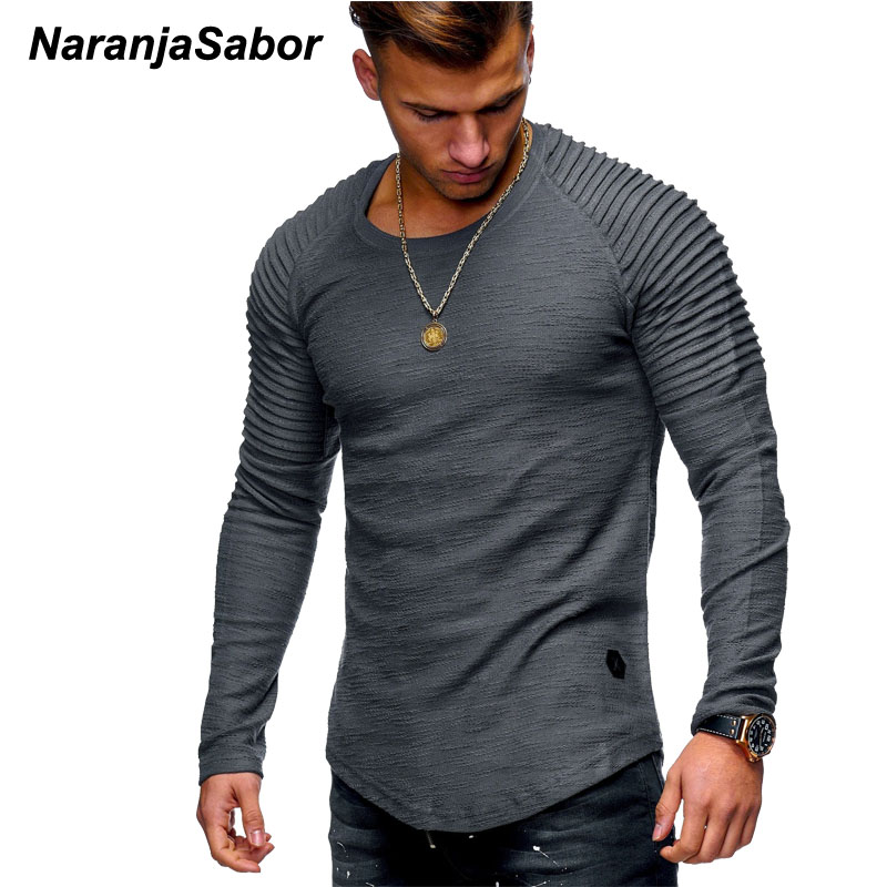 NaranjaSabor New Men's Cutton Hoodies 2020 Autumn Long Sleeve Casual Slim Shirt Mens Brand Clothing Male Sweatshirt 4XL N542