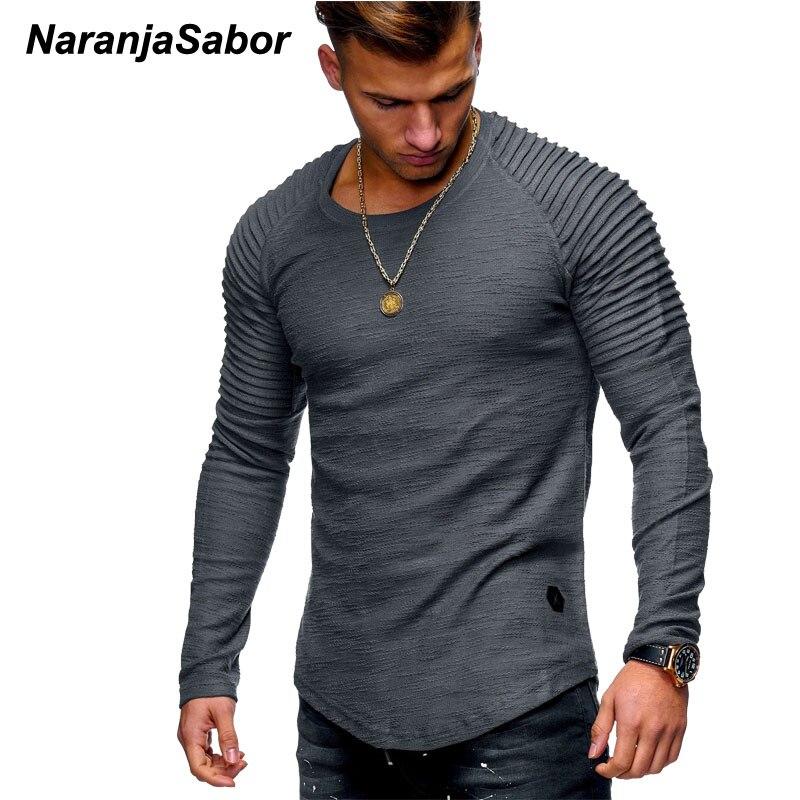 NaranjaSabor New Men's Cutton Hoodies 2020 Autumn Long Sleeve Casual Slim Shirt Mens Brand Clothing Male Sweatshirt 4XL N542