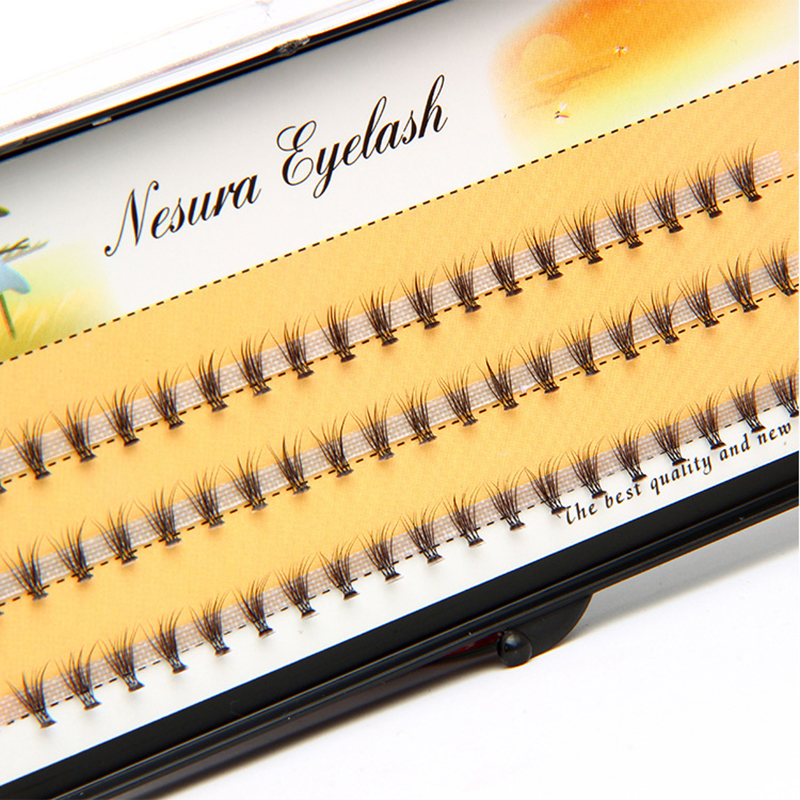 0 1mm Natural long Individual Flare Lashes Cluster False Eyelashes 60 bundles boxes in False Eyelashes from Beauty Health