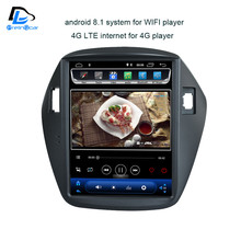 32G ROM android 8.1 navigation system vertical type radio bluetooth stereo player for Hyundai ix35 car multimedia player(China)