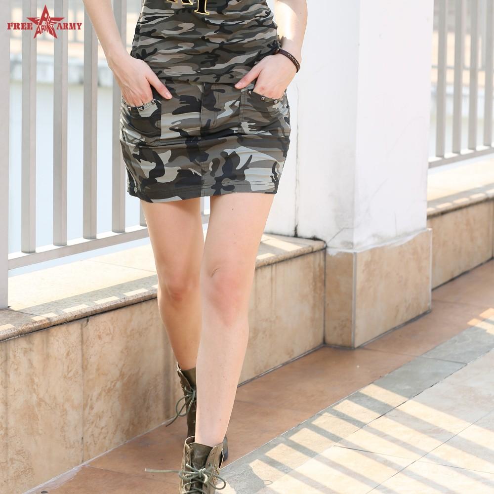 Khujo Jupe Femmes Kenning Mini-jupe de coton-Stretch De Camouflage