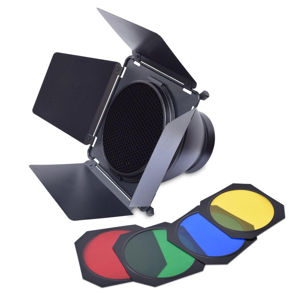 Barn Door Honeycomb Grid & Filter + Standard Reflector Kit for ...