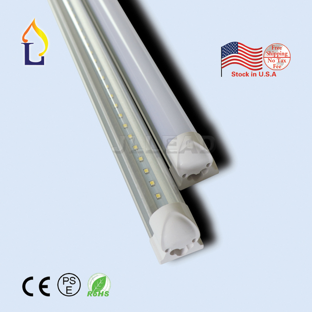 50pcs/lot LED T8 Integrated tube 20W 24W/24W 26W/30W/40W 48W 4/5/6/8ft LED Bulb tube Lamp SMD2835 LED Light tube T8 integrated