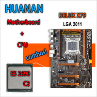 HUANAN Golden Deluxe Version X79 Gaming Motherboard For Intel LGA 2011 ATX Combos E5 2690 C2
