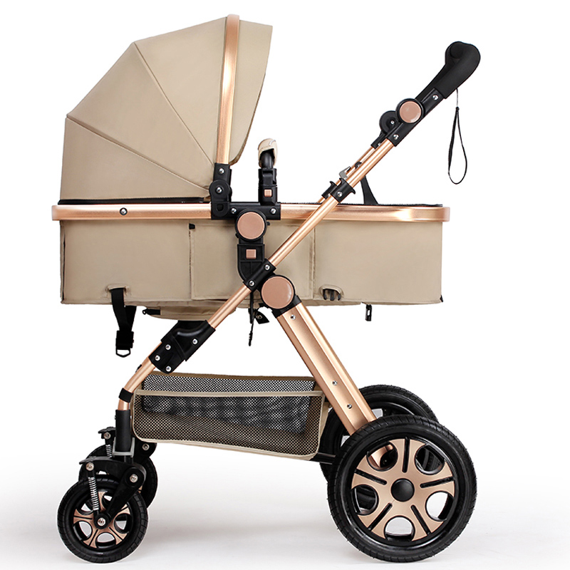 Baby Carriage For Newborns Folding Baby Stroller 2 in 1 Travel System High Landscape Prams For Infant Baby Cart Seat & Lying 2017 two babies strollers for twins old bebek arabasi prams for newborns baby girl