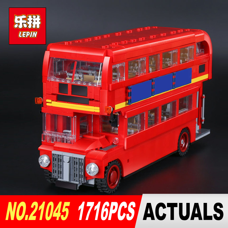 LEPIN 21045 1716Pcs the Creator Camper Bus Model Building Blocks Bricks Toys Model Compatible 10258 for Children toy Gifts lepin city creator 3 in 1 corner deli building blocks bricks kids classic model toys for children marvel compatible
