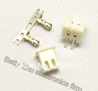 100pcs/lot Xh2.54-2p 2pin Terminal Block 2.54mm Pitch Connector : Plug + Plastic Bending Needle Socket + Terminal Sale Overall Discount 50-70%